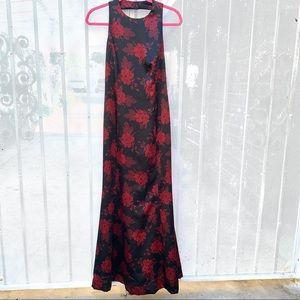 Vintage Adrianna Papéll Evening Black Red Dress